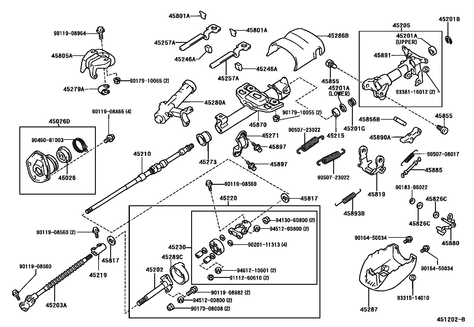 steering column  u0026 shaft manual tilt